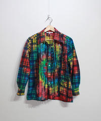 Rebuild by Needles:Flannel Shirt Ribbon Shirt  Tie Dye #4 - L size