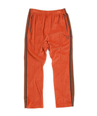 Needles NARROW TRACK PANT  C/PE VELOUR - BRICK Msize