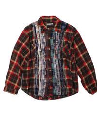Rebuild by Needles Ribbon Flannel Shirt  BROWN - M size
