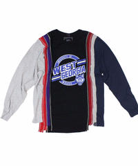 Rebuild by Needles 7 Cuts long sleeve Tee College BLACK  - size L ④