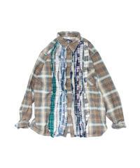 Rebuild by Needles:Ribbon Flannel Shirt - L size #50