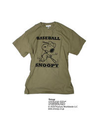 TAMANIWA: Base Ball Short sleeve Tee (SNOOPY)