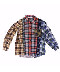 Rebuild by Needles:7 CUTS  Shirt - Flannel RED CHK- M size