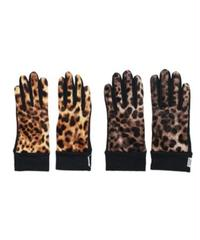 INFIELDER DESIGN: LEOPARD VELOUR GLOVES