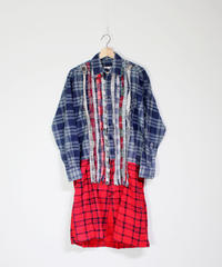 Rebuild by Needles:Flannel Shirt  Ribbon Dress BLUE - size 2