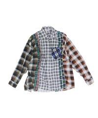 Rebuild by Needles 7 CUT Flannel Shirt WIDE - GRYCHK onesize  #1