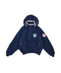 used:New York Yankees STARTER Pullover Hood JKT - L size