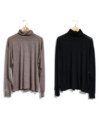Needles : Long Sleeve  Turtle Neck Tee - Wool Jersey