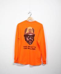 TAMANIWA:ball park  long sleeve tee - back print logo (TONY)