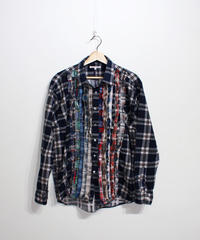 Rebuild by Needles:Ribbon Flannel Shirt - L size #63