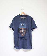 TAMANIWA:ball park  short sleeve tee -front logo print (OZZIE)
