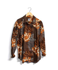 AiE :PAINTER SHIRT - ANIMAL PATCHWORK