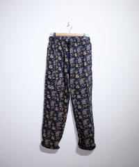 INDIA FLAG :BATIK DRAWSTRING PANTS - NAVY