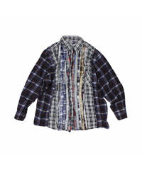 Rebuild by Needles:Ribbon Flannel Shirt wide - onesize #32