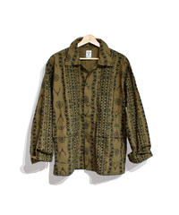 South2 West8:HUNTING SHIRT - PRINTED FLANNEL  CAMOUFLAGE - SKULL&TARGET