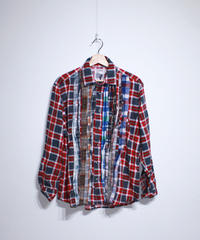 Rebuild by Needles:Ribbon Flannel Shirt - L size #65