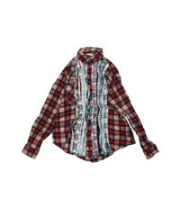Rebuild by Needles:Ribbon Flannel Shirt wide - M size #40