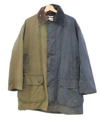 Sunny side up (サニーサイドアップ) Remake 2for1 Oiled Jacket olive×navy