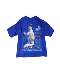 dead stock:Los Angeles Dodgers #16 HIDEO NOMO  PRO PLAYER blue tee #3