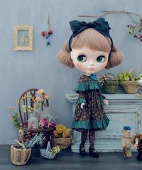 [完成品]  ハーバルドレス(こげ茶) / Herbal dress ( Dark Brown color)