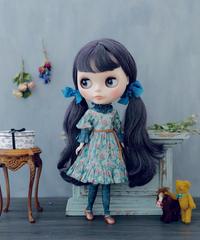 [完成品] ブルジョンドレス (青色) / Bourgeon dress (  Blue color)