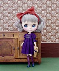 DIY スモッキングワンピース(紫色)キット