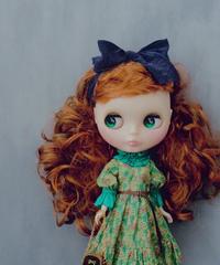 [完成品] ブルジョンドレス (緑色) / Bourgeon dress (  Green color)