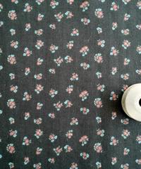 [02/26 予約販売] 小花柄 黒色 ハノンオリジナルファブリック 20cm x 50cm