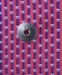 [01/13 予約販売] レトロリボン 赤色  ハノンオリジナルファブリック 20cm x 50cm