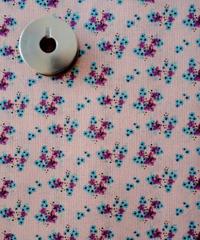 [06/15 予約販売] 青いアネモネ ピンク色  ハノンオリジナルファブリック 20cm x 50cm