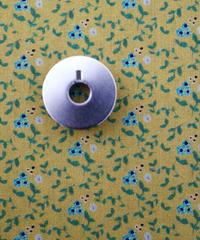 [01/13 予約販売] 青いアネモネ マスタード色  ハノンオリジナルファブリック 20cm x 50cm