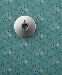 [01/13 予約販売] 青いアネモネ 水色  ハノンオリジナルファブリック 20cm x 50cm