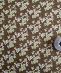 [02/26 予約販売] ジニア(ヒャクニチソウ)茶色 ハノンオリジナルファブリック 20cm x 50cm