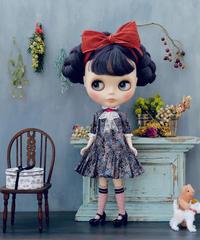 [予約完成品]  プチギャマンドレス(ペールガーデン黒) / Petit gamin dress ( Black color)