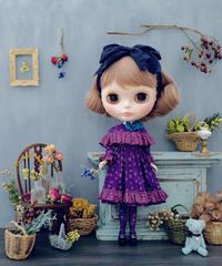 [完成品]  ハーバルドレス(紫) / Herbal dress ( Purple color)