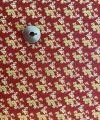 [予約販売] ジニア(ヒャクニチソウ) 赤色  ハノンオリジナルファブリック 20cm x 50cm