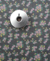 [01/13 予約販売] 春が待ち遠しい花 チャコール色  ハノンオリジナルファブリック 20cm x 50cm