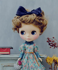 [完成品/Pre-order] ブルジョンドレス (青色) / Bourgeon dress (  Blue color)