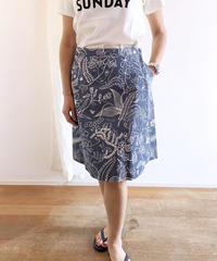 HSHSK021 リンドベリ南国柄 ラップスカート