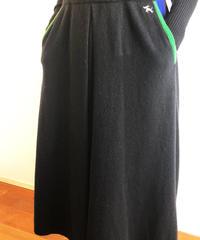 HSKR0034 12G タックフレアースカート カシミヤ100%