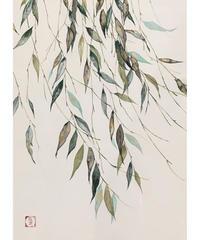 日本画 青木志子 「そよぐ」 F4号