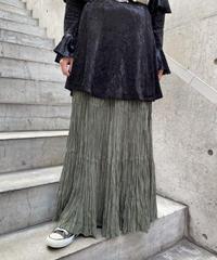 gather long skirt   H0012