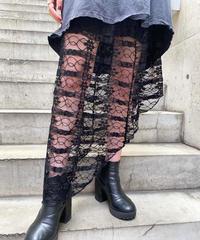 asymmetry  lace   skirt