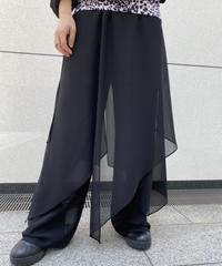 see-through  design  pants