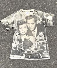 I  LOVE  LUCY  drama print T-shirt  H044-10