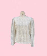 vintage  lace   blouse   H044-19