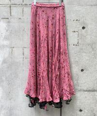 reversible  flower print skirt