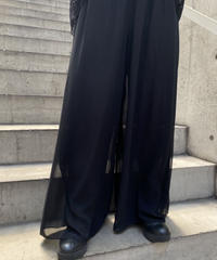 SEE-THROUGH  WIDE  PANTS  H051-5