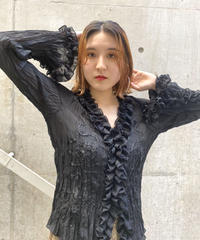 frill   design   blouse    H044-9