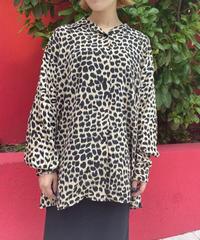 leopard  pattern  shirt